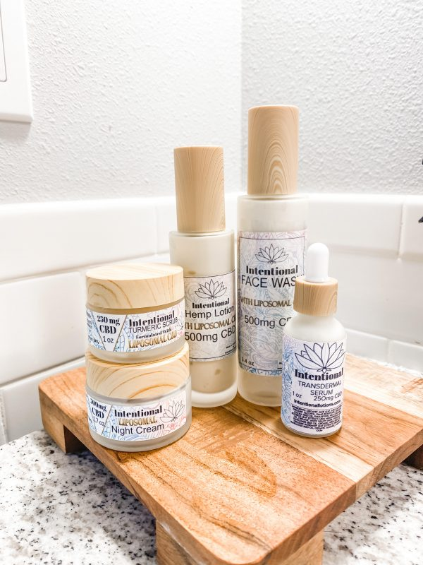 photo of 5 skincare products as listed in description