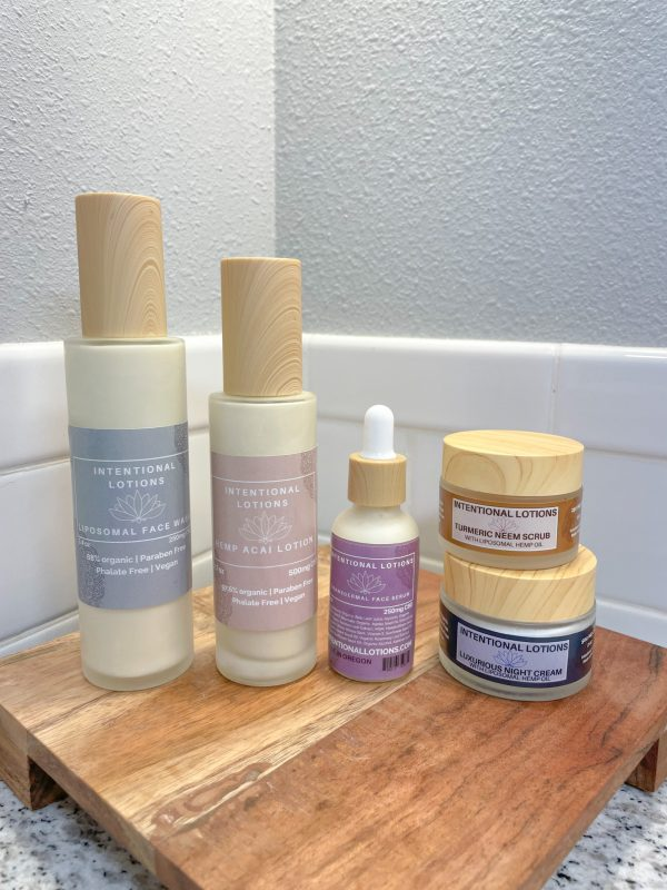 a photo of our cbd topical skincare line
